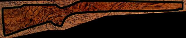 Gunstock or stock, one piece of stock for rifle shotguns